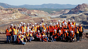 ProMiners at the famous Rio Tinto mining area in Huelva, Spain. 17th November 2011.