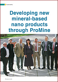 Developing new mineral-based nano products through ProMine